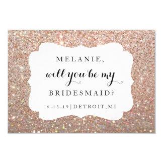Sind Sie mein Brautjungfer-Hochzeit Karte