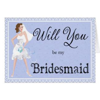 Sind Sie mein Brautjungfern-Brautzusatz Grußkarte