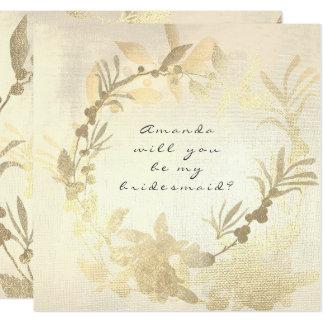 Sind Sie mein Brautjungfern-Foxier Quadratische 13,3 Cm Einladungskarte