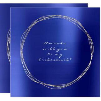 Sind Sie mein Brautjungfern-Kobalt-Saphir-Gold Karte