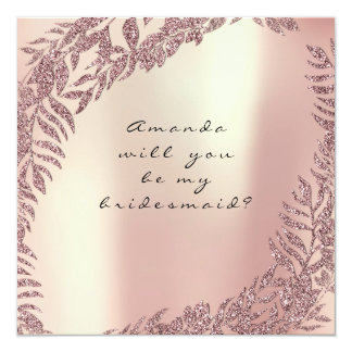 Sind Sie mein Brautjungfern-perliger Karte