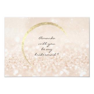 Sind Sie mein Brautjungfern-sahniger GoldGlitter Karte