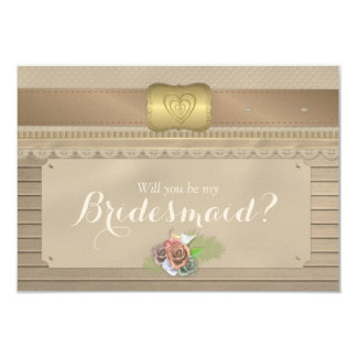 Will you be my bridesmaid rustic wood cowboy belt