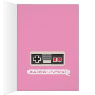Sind Sie mein Spieler 2? - Gamer-Valentinstag Grußkarte