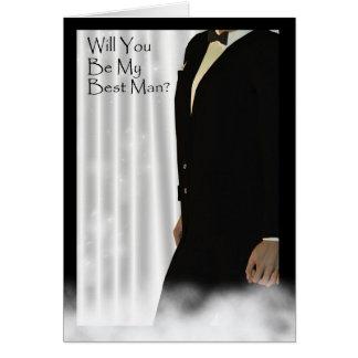 Sind Sie mein Trauzeuge? Hochzeitseinladungskarte Grußkarte
