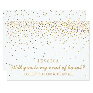 Sind Sie mein Trauzeugin-Vintager GoldConfetti 12,7 X 17,8 Cm Einladungskarte