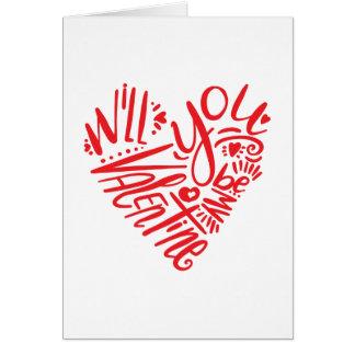 Sind Sie mein Valentinsgruß Karte