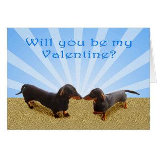 Sind Sie mein Valentinsgruß, zwei Dachsunds Karte