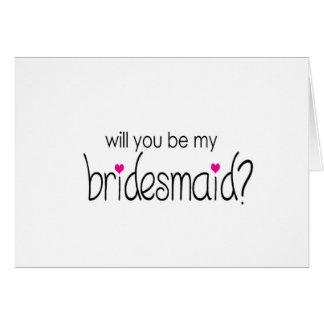 Sind Sie meine Brautjungfer? Anmerkungskarte Karte