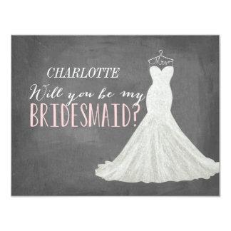 Sind Sie meine Brautjungfer der Brautjungfern-  10,8 X 14 Cm Einladungskarte