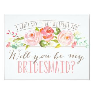 Sind Sie meine Brautjungfer der Brautjungfern-| Karte