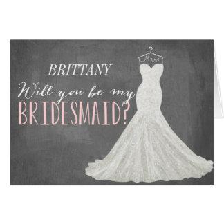 Sind Sie meine Brautjungfer der Brautjungfern-| Mitteilungskarte