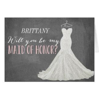 Sind Sie meine Brautjungfer der Trauzeugin-| Mitteilungskarte