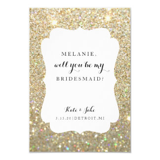 Will You Be My Bridesmaid - Wed Day Gold Glitter