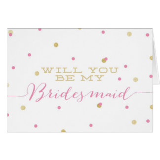 Sind Sie meine Brautjungfer? | GoldGlitzerConfetti Karte