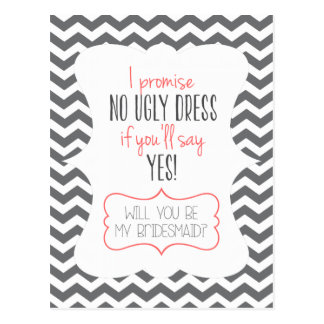 Sind Sie meine Brautjungfer, Karte für