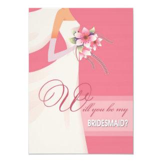 Sind Sie meine Brautjungfer? Kundenspezifische Individuelle Ankündigung