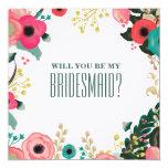 Sind Sie meine Brautjungfer? Kundenspezifische Personalisierte Einladung