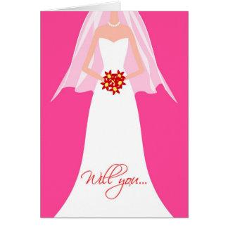 Sind Sie meine Brautjungfer? Mitteilungskarte