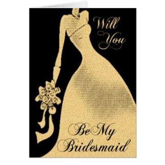 Sind Sie meine Brautjungfern-Einladungs-Karte Karte