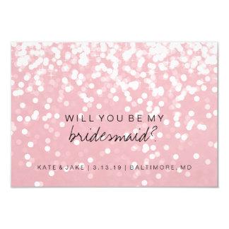 Sind Sie meine Brautjungfern-Karte - funkelndes 8,9 X 12,7 Cm Einladungskarte