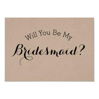 Sind Sie meine Brautjungfern-rustikale Karte, Karte