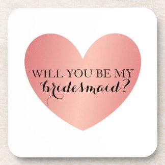 Sind Sie meine Brautjungfern-Untersetzer - rosa Getränkeuntersetzer