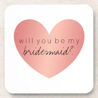 Sind Sie meine Brautjungfern-Untersetzer - rosa Untersetzer