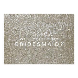 Sind Sie meine Brautjungfern-weißes 12,7 X 17,8 Cm Einladungskarte