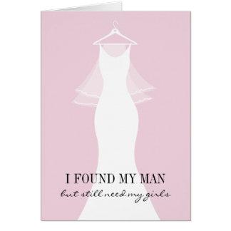 Sind Sie meine Brautjungfernantragkarten Mitteilungskarte