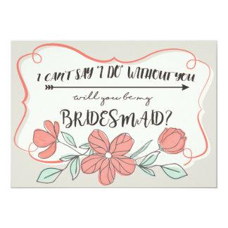 Sind Sie meine Brautjungferneinladung. - Mit Karte