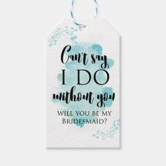 Sind Sie meine Brautjungfernfragenkarte Geschenkanhänger