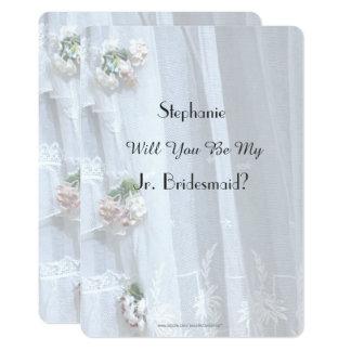 Sind Sie meine jr.-Brautjungfer, Vintage Spitze Karte