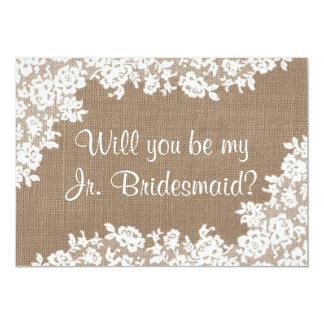Sind Sie meine jr.-Brautjungfern-rustikale 12,7 X 17,8 Cm Einladungskarte