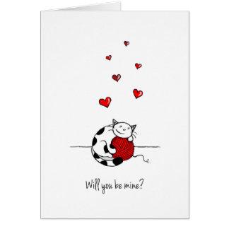 Sind Sie meine? Karte des Valentines Tages-