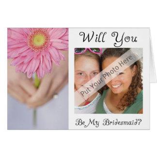 Sind Sie meine Karte-Personalisierte Brautjungfer Karte