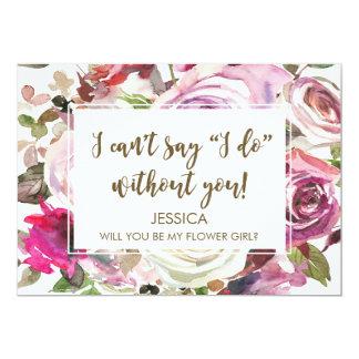 Sind Sie meine personalisierte Blumenmädchenkarte Karte