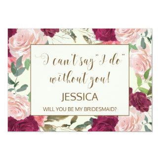 Sind Sie meine personalisierte Brautjungfernkarte Karte