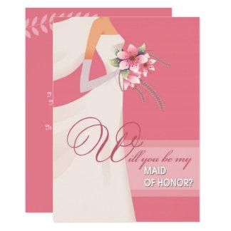 Sind Sie meine Trauzeugin? Hochzeits-Einladungen Karte