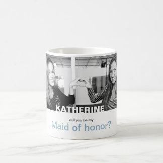 Sind Sie meine Trauzeugin Ihre eigene Foto-Tasse Kaffeetasse