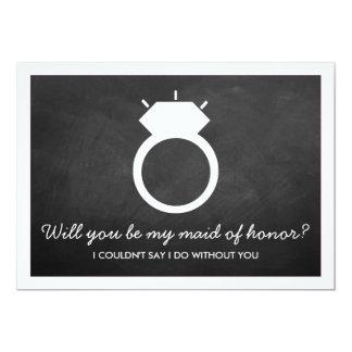Sind Sie meine Trauzeugin? Tafel-Ring-Karte 12,7 X 17,8 Cm Einladungskarte