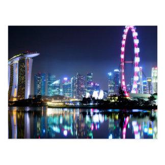 Singapur an der Nachtpostkarte Postkarte
