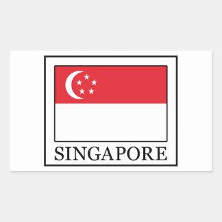 Singapur-Aufkleber Rechteckiger Aufkleber