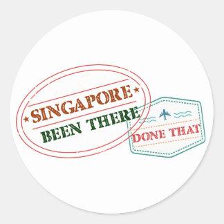 Singapur dort getan dem runder aufkleber