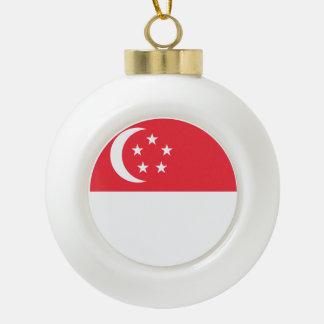 Singapur-Flagge Keramik Kugel-Ornament