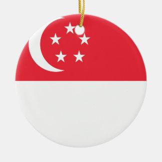 Singapur-Flagge Keramik Ornament