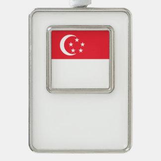 Singapur-Flagge Rahmen-Ornament Silber
