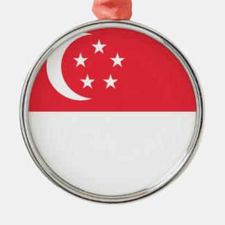 Singapur-Flagge Silbernes Ornament