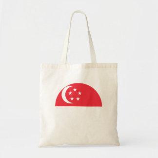 Singapur-Flagge Tragetasche
