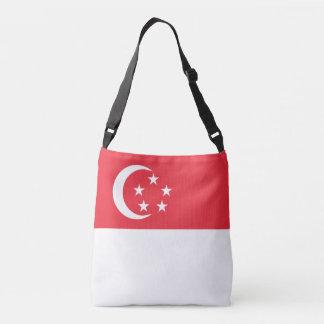 Singapur-Flagge Tragetaschen Mit Langen Trägern